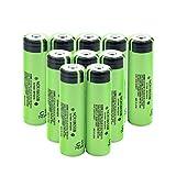 Jdttngp BateríAs Li-Ion De 3.7v 3400mah 18650, Litio para La Linterna del Banco del Poder 10pieces