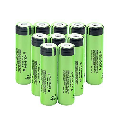 HTRN BateríAs De Litio De Iones De Litio De 3.7v 18650b 3400mah, Celdas Cargables Protegidas por PCB para Linterna De Banco De Energía 10pieces