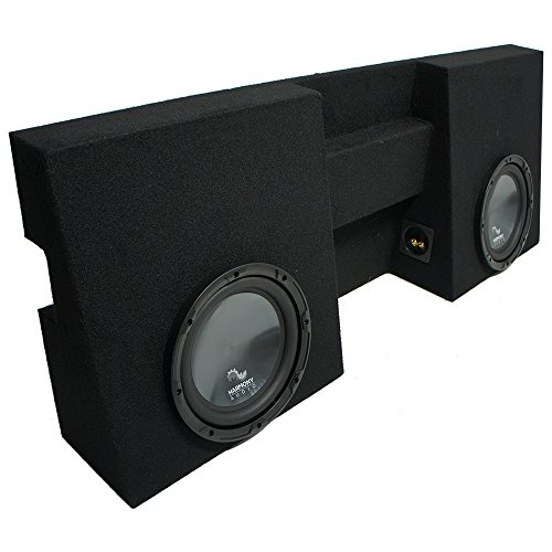 """Compatible with 2005-2015 Toyota Tacoma Double Cab Truck Harmony R104 Dual 10"""" Sub Box Enclosure"""