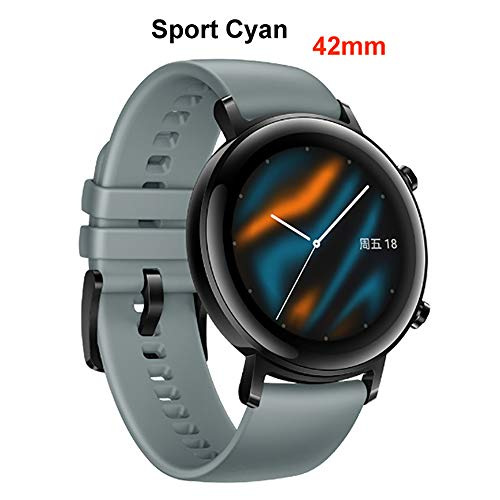 Gooplyer for Huawei Watch GT2 Smartwatch Bluetooth 5.1 Fitness Tracker 14 Days Battery Life Phone Call Heart Rate Monitor Android GPS (42mm) (Lake Cyan-Blue Sports)