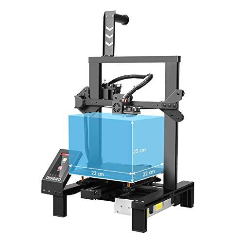 DIGGRO Alpha-3 FDM 3D Printer DIY con Touchscreen da 4,3