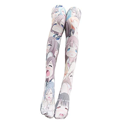 Bonarty Damen Kniestrümpfe Anime Manga Socken Overknee Strümpfe Japan Cosplay Party Kostüm