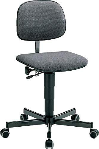 bimos Arbeitsdrehstuhl mit Gasfeder-Höhenverstellung von 430 bis 600 mm - mit Rollen - Sitz und Rückenlehne aus Holz - Arbeitsdrehstuhl Arbeitsdrehstühle Arbeitsstuhl Arbeitsstühle Drehstuhl Drehstühle Stuhl Stühle Universalstuhl Universalstühle