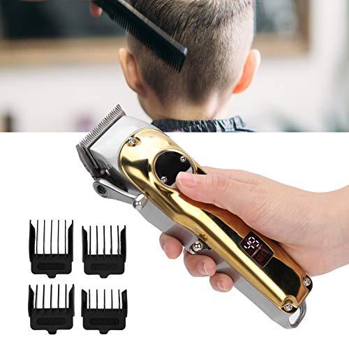 Cortadora de cabello eléctrica, sistema eficiente de cortadora de cabello de hoja curva, para hombres y mujeres