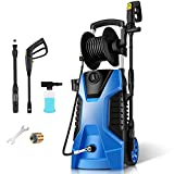 TEANDE Pressure Washer 3800PSI 2.8 GPM Power Washer Machine with Hose Reel,Adjustable Nozzle, Spray Gun for Cleaning Garden, Cars,Driveways(Blue)