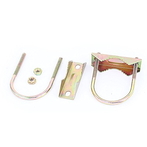 Aexit 2 Pairs Chain & Rope Fittings Metal Antenna Mast Pipe Mounting U Bolt Wire Rope Clips Clamp Clip