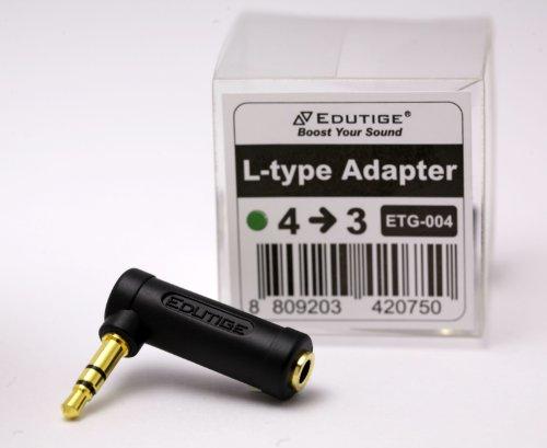 EDUTIGE L-Adapter ETG-004 Konverter Adapter von 4 Pol CTIA zu 3 Pol TRS für Kamera Actionkamera Camcorder PC