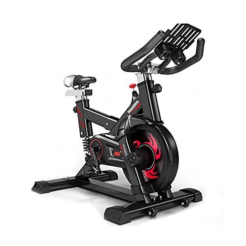 DJDLLZY Cyclette, Indoor Cycling, Manubrio Regolabile Sedile Resistenza, Applicazione Intelligente Computer Legge velocità Distanza Tempo Calorie Heart Rate Sensori