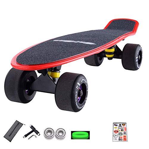 LKCAK Short Board Full Board Adulto Skateboard Bilateral Inclinado Board Skill Skateboard Accesorios Tabla de Skateboard (Color: Purple, Tamaño: Overall)