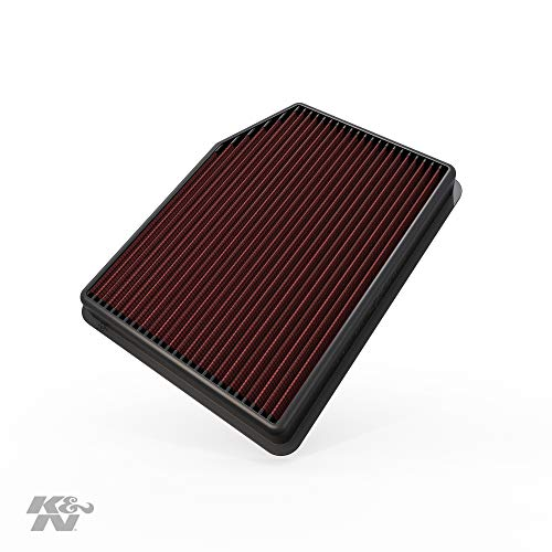 K&N Engine Air Filter: High Performance, Premium, Washable, Replacement Filter: 2019 Chevy/GMC Truck (Silverado 1500, Sierra 1500), 33-5083