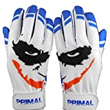 Cool Blue Smiley Baseball Batting Gloves (Medium)