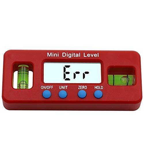 RongWang La Prueba de precisión Digital roja del inclinómetro del prolongador del Nivel de Agua Box Digital Visor de ángulo de Bisel