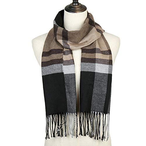 HAZVPO Frauen Winter Schals Dame Kaschmir Schals Plaid Casual Hals Warmen Schal Weiblichen Foulard Bandana-x58