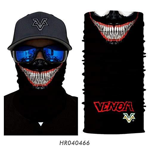 3D Männer Deadpool Gesichtsmaske , Stirnband Venom Spider-Man Hals Buffs Summer Ski Masken (Color : HR040466)