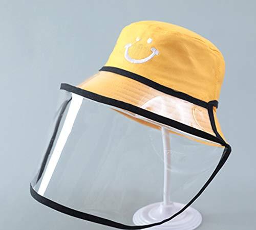 GL SUIT Anti-Saliva Schutz-Baby-Schutz-Augen-Schild für Kinder im Freien Sonnenschutz Junge Fischer-Hut Mädchen staubdichte Kappen,Yellow 6,58cm (Adult)