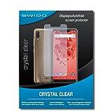 SWIDO Bildschirmschutz für Wiko View 2 Plus [4 Stück] Kristall-Klar, Hoher Festigkeitgrad, Schutz vor Öl, Staub & Kratzer/Schutzfolie, Bildschirmschutzfolie, Panzerglas Folie