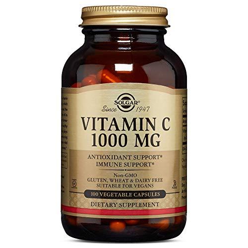 Solgar wasserlösliches Vitamin-C 1000 mg Antioxidativer Schutz Vitamin 100 Vegetarische Kapseln