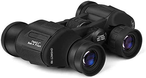 Mini binoculares 12X35, binoculares compactos a prueba de agua con lente BAK4 Prism FMC para observación de aves, viajes, conciertos, teatro, ópera con luz débil, visión nocturna, viajes, negro