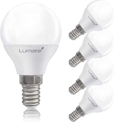 Lumare LED Lampe Energiesparlampe E14 G45 5er Set LED Birne 5 Watt 425 Lumen Leuchtmittel ersetzt 40 Watt Glühbirne warmweiss 2700K Abstrahlwinkel 200° Tropfen