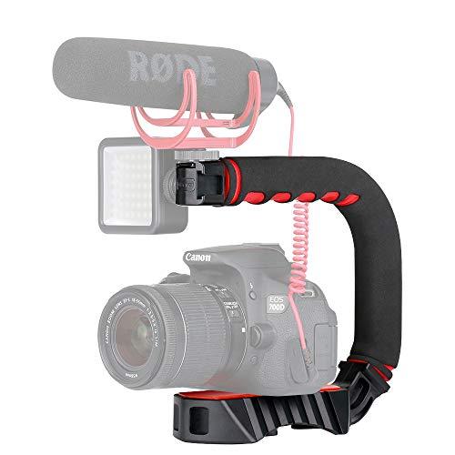 ULANZI U Grip Pro Kamera-Hand-Stabilisator-Griff mit 3 Schuhhalterungen, universeller Video-Action-Stabilisierungsgriff, kompatibel für Canon, Nikon, Sony, DSLR-Kamera/Camcorder