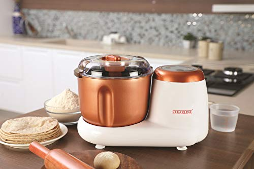 Clearline Appliances 3.5 L Dough Kneader with Heating Function for Fermentation (White-Brown)_Model-DM02