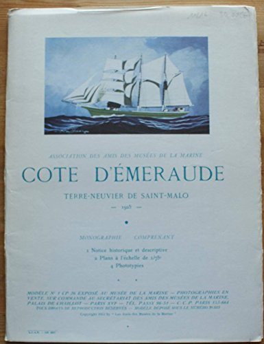 POCHETTE- MONOGRAPHIE: COTE D EMERAUDE TERRE-NEUVIER DE SAINT-MALO 1925