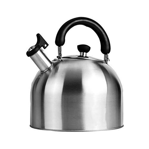 the teapot company Camping cafetería, hervidor de té silbando Encima de la Estufa, con Mango ergonómico Anti-escaldado, versión Helada (tamaño : 4L)
