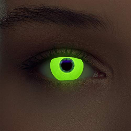 Gelbe leuchtende Schwarzlicht Kontaktlinsen Neon Kontaktlinsen in gelb (Glowing Yellow)