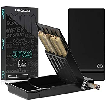 Stash Container JPAQ Ultra-Sleek Joint Holder w/ Gasket Seal and Roach Coach, Strong and Sturdy Blunt Holder, Doob Tube, and Cigarette Case, Holds 5 King Size Prerolls, Portable, Compact, Convenient Weed Accessories