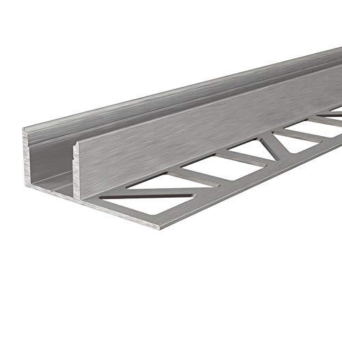 Deko-Light, Fliesen-Profil EL-03-12 für 12-13,3 mm für LED Stripes, Länge: 125cm, Silber gebürstet