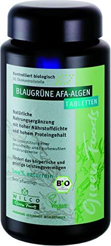 AFA Alge Bio, Wilco Green Foods Tabletten/Presslinge, 600 Stück, 100% Naturrein Biologisches Nahrungsergänzungsmittel für körperliche Fitness und ein gesteigertes Wohlbefinden, Vitamin B12.
