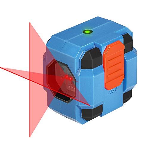 Nivel Láser 15m, SORAKO Nivelador Láser Cruzado, Nivelador Láser Cruzado, Nivelación Nivel Láser, Laser Autonivelante, Clase de láser II (2 pilas incluidas)