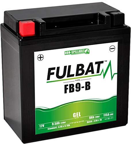 Fulbat - Batería Moto Gel FB9-B/ YB9-B/ 12N9-4B-1 12V 9Ah