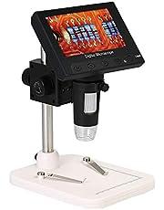 """KKmoon 1000X 4.3"""" Microscopio 720P Pantalla LCD Portátil LED Lupa Digital con Soporte para Placa de Circuito de Reparación de Herramienta de Soldadura"""