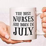 Tazas de café de la enfermera, tazas divertidas de la enfermera, tazas de café de la enfermera, taza de la enfermera, las mejores enfermeras nacen en los regalos de las tazas de café, taza de la enfer