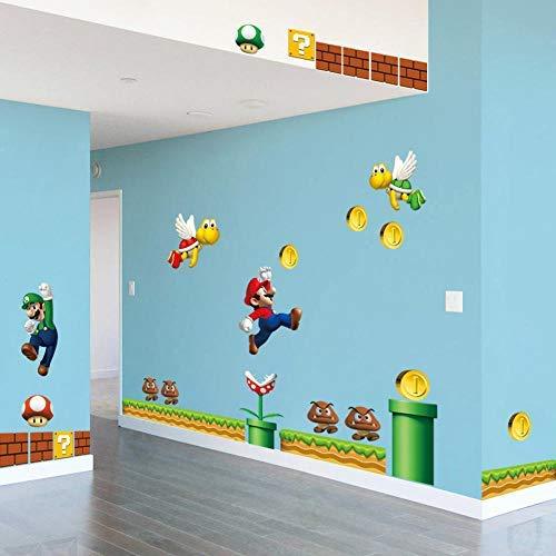 Gemeng™ Super Mario Sticker Kinderzimmer Schlafzimmer Dekor Wandaufkleber