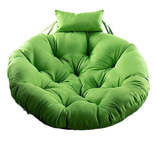 XGXQBS mand om op te hangen, voor zitkussen, Swing Round met kussen, 105 cm (40 inch) Groen