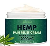 NUTRILUSH Hemp Pain Relief Cream - 2000mg - Relieve Sprains, Muscle, Back, Joint and Arthritis Pain...