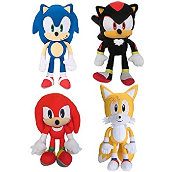 Amazon Com Sonic The Hedgehog Shadow Tails Knuckles 8 Plush Toy Kids Boys Girls Set Of 4 Toys Games
