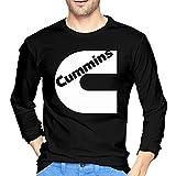 Cummins Logo.jpg Men's Fashion Long Sleeve tee Black Camisetas y Tops(Medium)