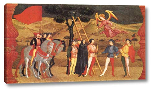 "Miracle of The Desecrated Host Scene 4 by Paolo Uccello - 7"" x 12"" Gallery Wrap Canvas Art Print - Ready to Hang"