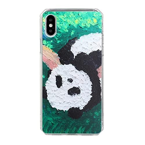 HALPP Compatible con la Funda iPhone X Arte de la Pintura al óleo, Pintura TPU Funda Protectora de Silicona para teléfono Funda Protectora para Funda iPhone X - Cielo