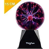 Theefun Bola mágica de plasma, 15 cm, bola electrostática, sensible al tacto, flash parpadeante, juguete pedagógico, fisia, luz de flash, lámpara de plasma, efectos de luz espécula