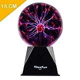 Theefun Magische Plasmakugel, 15cm Leucht Ball Elektrostatische Kugel Berührungsempfindliche...