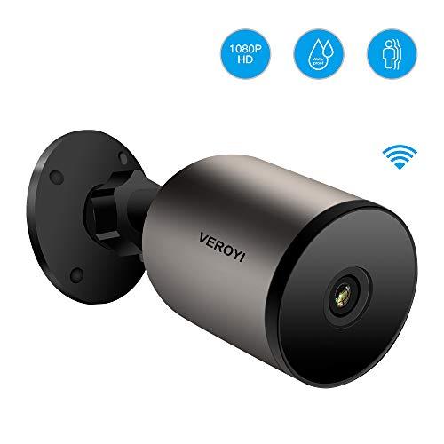Veroyi Outdoor Überwachungskamera Wireless 1080P WiFi IP Home Überwachungskamera mit Zwei-Wege-Audio, IP66 wasserdicht, Nachtsicht, Bewegungserkennung
