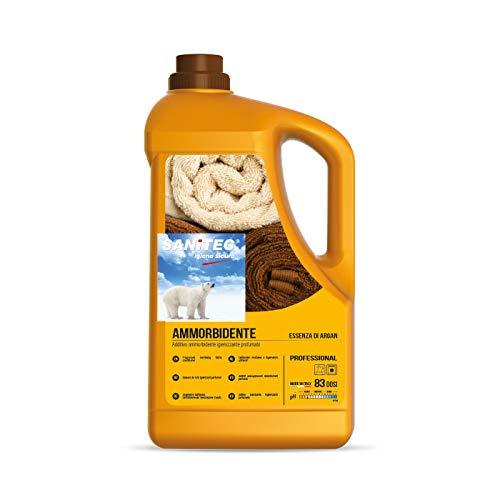 Softdet - Additivo Ammorbidente Profumato Igienizzante per Lavaggio a Mano e in Lavatrice - Bianchi e Colorati - Essenza di Argan - 5 kg