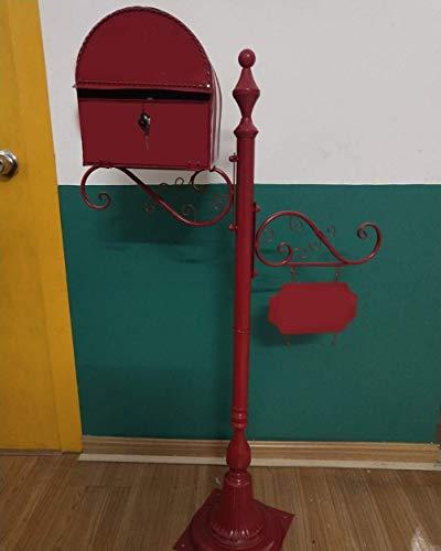 aipipl Briefkästen außerhalb wasserdichter freistehender Briefkäfigkäfige Abschließbarer Briefkasten Vertikal/Weiß Bronze Braun Blau Gelb Rot Optionale Paket-Dropbox Sicherer Versandkarton