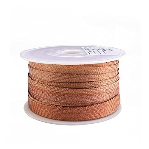 funda de cable 14 mm chapado enlatado de cobre manga trenzada de manguito de metal anti interferencia de detección de audio altavoz de alambre de alambre de alambre de cable blindado fundas de cables