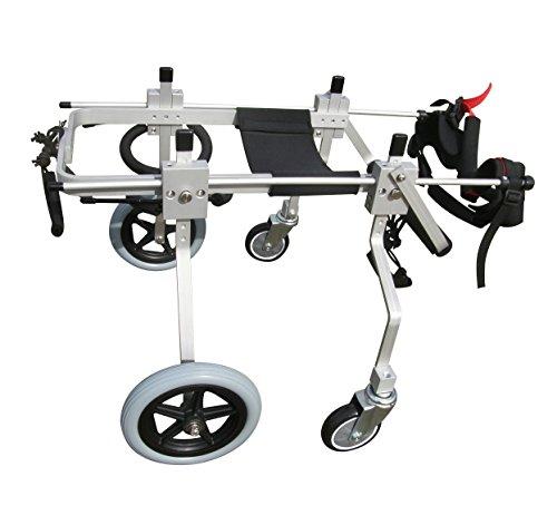 wheelchair carts Best Friend Mobility Quad 4 Four Wheel Full Support Pet Dog Wheelchair Cart (M)