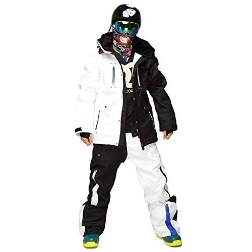 Trajes De Esqui Hombres de esquí Traje Impermeable Espesado y Caliente al Aire Libre y...